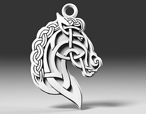 Celtic horse pendant 3D print model