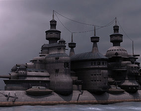 3D Steampunk Cruiser