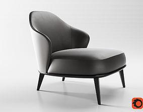 3D minotti leslie armchairs