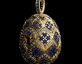 jewelery 3D printable model Easter egg