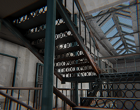 Prison house - restricted area 3D police-officer