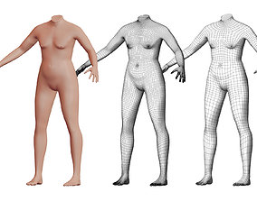 3D model Character 41 High and Low-poly - Body male