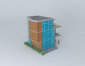 Small building at a coastal region 3D model