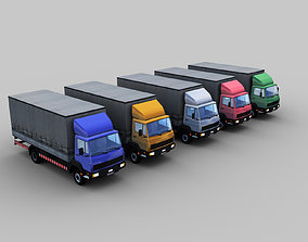 Cargo Truck With Interior 3D asset