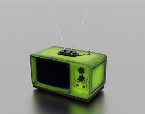 3D asset game-ready PBR Old TV room
