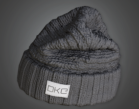 3D asset low-poly Beanie Tuque - HAT - PBR Game Ready