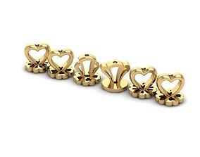 65 Screw Back of gold Earing 3D printable model