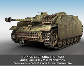 3D model StuG III - Ausf G - 429 - Mid Production