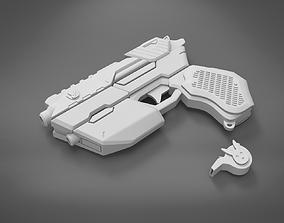 3D printable model Officer DVa gun and whistle from 1