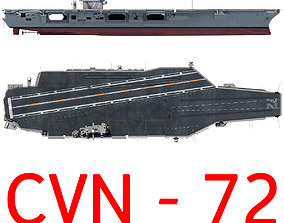USS Abraham Lincoln Aircraft Carrier CVN-72 3D