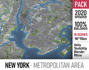 New York Metropolitan area 3D model