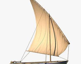 3D Felucca Sail Boat