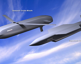 3D model MBDA Cruise Missile Concepts