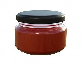 Sauce Jar 01 3D