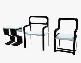 Minimalistic Sci-Fi Chairs 3D model