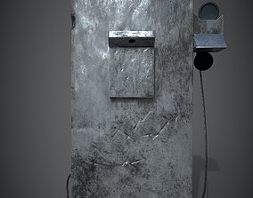 3D model game-ready Pay phone