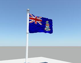 Cayman Islands flag 3D