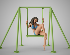 Girl on the Swing 3D print model
