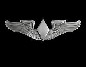 Women Airforce Service Pilots Wings Badge 3D