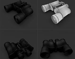3D asset low-poly military Binoculars