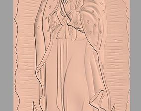 Christian Jesus the Virgin Mary 3D Relief Model J24