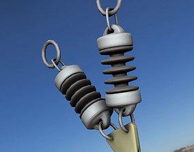 Electricity Poles Ceramic Insulator 11 - Object 3D asset 1