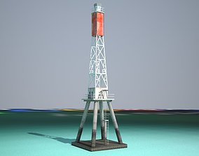 3D model game-ready The Creal Reef Lighthouse Low poly