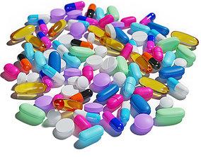 Pills set 3D model