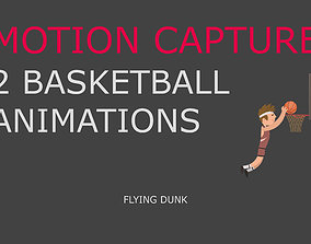 animated Basketball motion capture 3D mode flying dunk