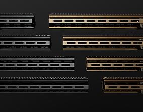 3D asset Geissele Super Modular Rail MK8 MLOK AR15