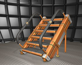 Sci-Fi Stairs - 8 - Orange Version 3D model