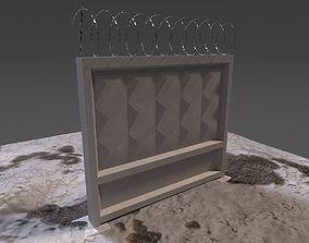 3D model Soviet Concrete Fence