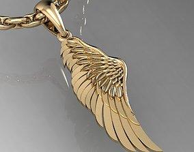 pendant angel wing cnc 3D print model