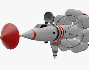 3D model Realtime von Braun Lunar Reconnaissance Rocket