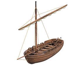 3D model Medieval Boat