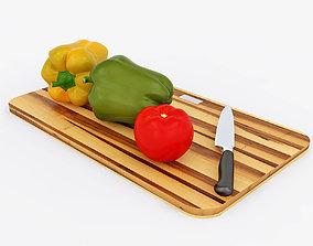 vegetables set 01 3D model