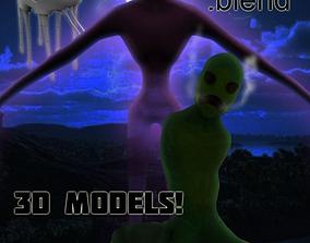 MINECRAFT Real Life Creeper model 3D asset