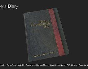Travelers Diary 3D asset