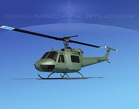 3D Bell UH-1B Iroquois Unmarked Military