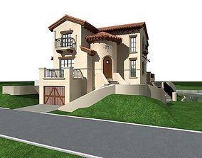 3D road block Villa
