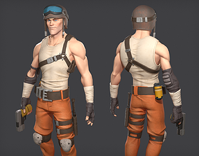 Soldier game ready character 3D model