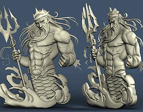 3d STL model for CNC Poseidon