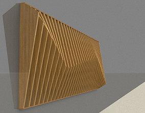 Parametric wall decor wood panels 3D model
