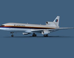 Lockheed L-1011-50 United Airlines 3D model
