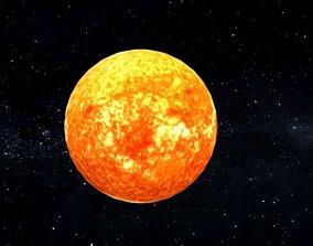 3D asset The Sun The Center of The Solar System Star