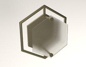 Hex Geometric Wall Sconce 3D asset