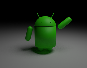 Beautiful android made in Blender 3D