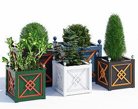 3D Asian planters