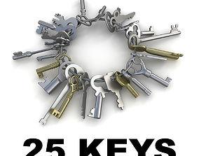3D model 25 Keys collection