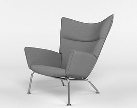 High detailed Nurbs model of the Wing Chair by Hans J 3D